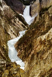 Grand Canyon av Yellowstone vattenfall. Arkivfoto