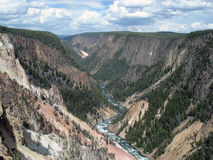 Grand Canyon av Yellowstonen Royaltyfri Fotografi