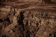 Grand Canyon avec la finition de cuivre Images libres de droits