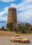 Grand Canyon, AZ los E.E.U.U. - abril, 19 2015 La atalaya de la opinión del desierto es un alto edificio de piedra de 70 pies en  Imagen de archivo libre de regalías