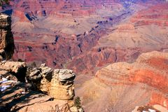 Grand Canyon, AZ, USA; early March; some snow Stock Photo