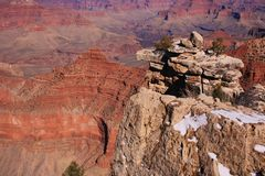 Grand Canyon, AZ, USA; March snow Royalty Free Stock Photo