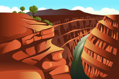 Grand Canyon background. A vector illustration of Grand Canyon background vector illustration