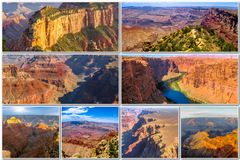 Grand Canyon -beeldencollage Royalty-vrije Stock Afbeelding