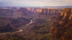 Grand Canyon bei Sonnenuntergang lizenzfreies stockbild