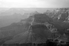 Grand Canyon black and white Royalty Free Stock Images