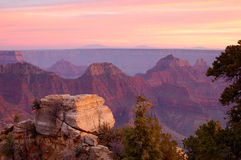 Grand Canyon from Bright Angel Viewpoint. Grand Canyon from Bright Angel viewpoint (North Rim) at sunset Royalty Free Stock Image