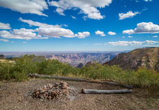 Grand Canyon campa Fotografering för Bildbyråer