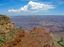 Grand Canyon cliff in the sunny afternoon. Stock Photo