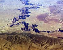 Grand Canyon Close. This is the middle of the grand canyon from 32,000 feet. Amazing image. It looks allot different this high Stock Photos