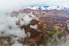 Grand Canyon Cloud Inversion Royalty Free Stock Photos