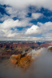 Grand Canyon Cloudy Weather Landscape Royalty Free Stock Photo