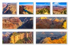Grand Canyon -collage Royalty-vrije Stock Foto's