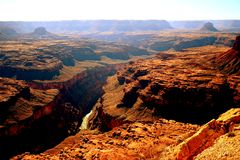 Grand Canyon Colorad Fluss-Ansicht Lizenzfreies Stockbild