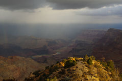 Grand Canyon and Colorado River. With sun and clouds Royalty Free Stock Photos