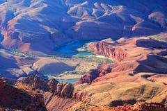 Grand Canyon Colorado river. Grand Canyon view of the Colorado River Stock Photos