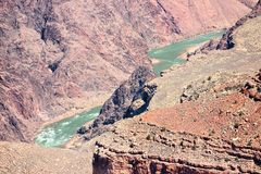 Grand Canyon Colorado River. Maricopa Point view. Grand Canyon National Park in Arizona, United States royalty free stock image