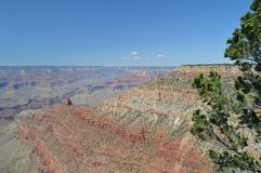 Grand Canyon Of The Colorado River. South Kaibab Trailhead. Geological formations. June 22, 2017. Grand Canyon, Arizona, USA. EEUU Royalty Free Stock Photo