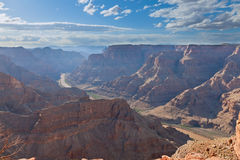 Grand canyon with Colorado river view Stock Photography
