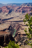 Grand Canyon Colorado River View, Pima Point. A good view of the Colorado river as seen from Pima Point, Grand Canyon National Park Royalty Free Stock Photo