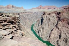 Grand Canyon Colorado United States, Arizona, Plateau Point Royalty Free Stock Image