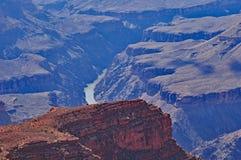 Grand Canyon Coloradofloden Fotografering för Bildbyråer