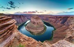 Grand Canyon con el río Colorado, situado en página, Arizona, los E.E.U.U. fotos de archivo
