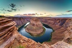 Grand Canyon con el río Colorado, situado en página, Arizona, los E.E.U.U. fotografía de archivo libre de regalías
