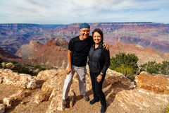 Grand Canyon Couple Stock Images