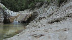 Grand canyon of Crimea. Crimean mountains, forest, mountain river stock video
