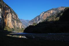 Grand canyon and crooked river in the morning light,guizhou,china,贵州,六盘水,中国 stock photos