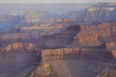 Grand Canyon Dawn Light. Soft pastel colors in the Grand Canyon, as seen from Yavapai Point in Grand Canyon National Park Royalty Free Stock Image