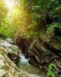 Grand Canyon de Pua District, Nan Province, la Thaïlande Le nom est images libres de droits