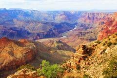 Grand Canyon. De V.S., Arizona. Panoramische Grote Mening stock afbeeldingen
