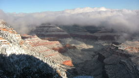 Grand Canyon in de Winter stock footage