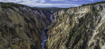 Grand Canyon de Yellowstone - abaissez les automnes Images libres de droits