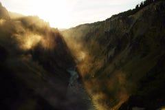Grand Canyon de Yellowstonw photos stock