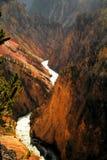 Grand Canyon de Yellowstonw image stock