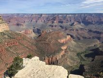 Grand Canyon in deap is de rivier van Colorado, Arizona royalty-vrije stock foto