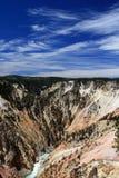 Grand Canyon del Yellowstone nel parco nazionale di Yellowstone nel Wyoming Fotografia Stock Libera da Diritti