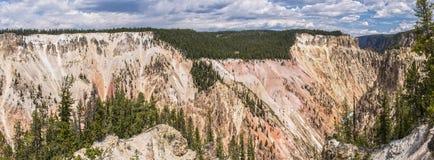 Grand Canyon del Yellowstone panoramico Fotografia Stock