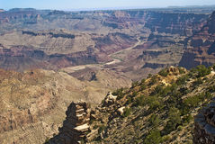 Grand Canyon - Desert View. This is a picture of the Grand Canyon - Desert View stop on the South Rim with a view of the Colorado River stock photo