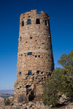 Grand Canyon Desert View Watchtower. The Desert View Watchtower, constructed in 1932 as a replica of a prehistoric Indian tower, commands a magnificent view of stock photo