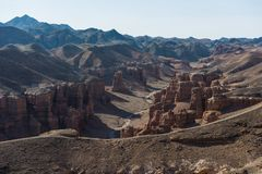 Grand Canyon di Charyn nel Kazakistan Immagine Stock