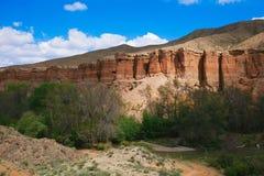 Grand Canyon di Charyn nel Kazakistan immagini stock
