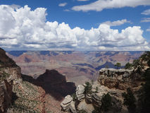Grand Canyon di vista aerea Fotografia Stock Libera da Diritti