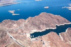 Grand Canyon die Arial-Mening verbazen De Brug van Navajo Helikopterreis stock afbeelding