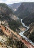 Grand Canyon do Yellowstone River Wyoming EUA fotografia de stock royalty free