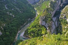 Grand Canyon du Verdon Stock Photography