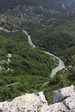 Grand canyon du verdon in France Stock Images